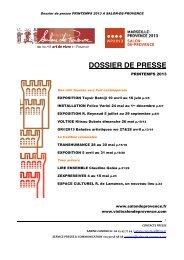 DOSSIER DE PRESSE - Office de tourisme Salon de Provence