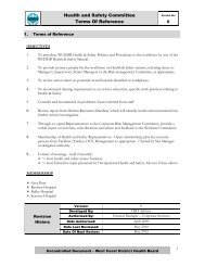 Health and Safety Committee Terms Of Reference - West Coast ...