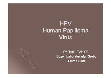 HPV Enfeksiyonlarının Laboratuvar Tanısı - Düzen Laboratuvarlar ...