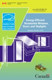 Energy-Efficient Residential Windows, Doors and Skylights