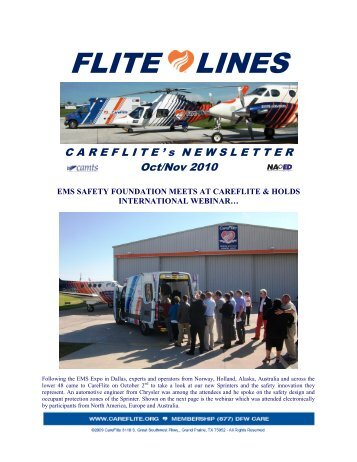 October-November 2010 Newsletter - CareFlite