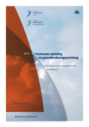 Postmaster opleiding tot gezondheidszorgpsycholoog ... - RINO Groep