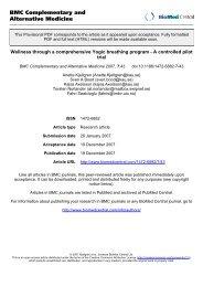 BMC Complementary and Alternative Medicine - Yoga Vidya