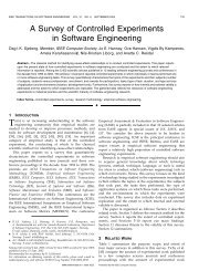 A Survey of Controlled Experiments in Software Engineering