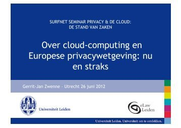 presentatie over privacy en de cloud - zwenneblog