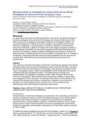 TSIG para asistir la estrategia de conservación de las Áreas ...