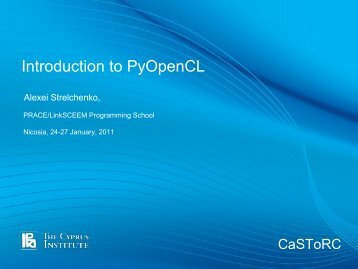 Introduction to PyOpenCL - Prace Training Portal