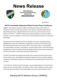 NATO Commander Addresses Global Counter Piracy Conference