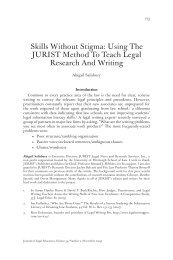 Using The JURIST Method To Teach Legal Research And Writing