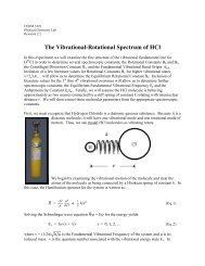 The Vibrational-Rotational Spectrum of HCl