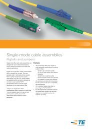 Data Sheet Single-mode cable assemblies ... - TE Connectivity