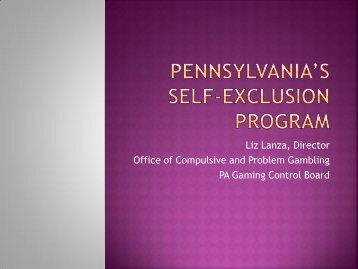 Pennsylvania's Self-Exclusion Program