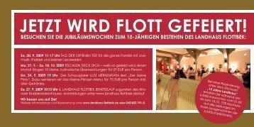 JETZT WIRD FLOTT GEFEIERT! - im Landhaus Flottbek