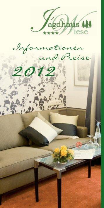 Informations- und Preisliste 2012 - Hotel Jagdhaus Wiese
