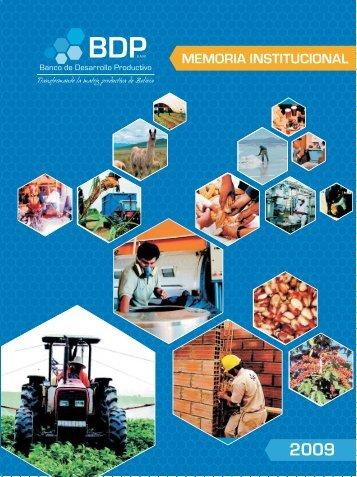 memoria2009.pdf - Banco de Desarrollo Productivo