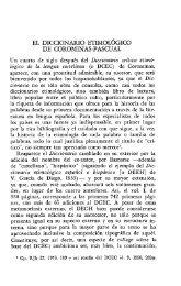 EL DICCIONARIO ETIMOLÓGICO DE COROMINAS-PASCUAL