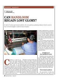 can HanDLOOM regain LOst gLOry?