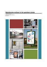 Beleidsnota reclame in de openbare ruimte - Gemeente Houten