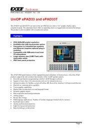 UniOP ePAD33 and ePAD33T