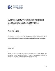 Analýza kvality verejného obstarávania na Slovensku v rokoch 2009 ...
