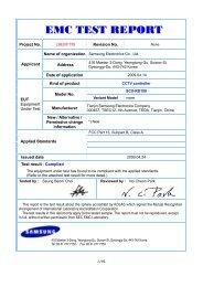 EMC TEST REPORT - Samsung CCTV