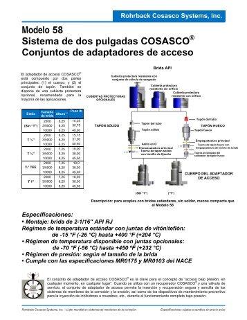 Modelo 58 Sistema de dos pulgadas COSASCO Conjuntos de ...
