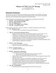 SC-227 Meeting Minutes - RTCA