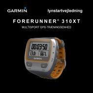 FORERUNNER ® 310XT lynstartvejledning - Frederiksen