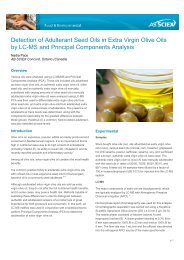 Detection of Adulterant Seed Oils in Extra Virgin Olive ... - AB Sciex