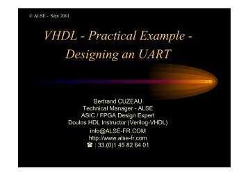 VHDL - Practical Example - Designing an UART