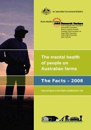 The mental health of people on Australian farms - Australian Centre ...