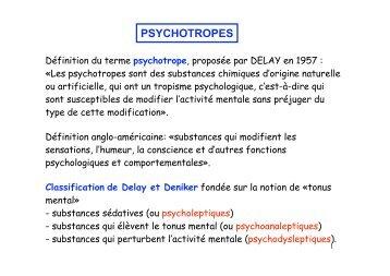 Les psychotropes ( 1 ) - PharmaEtudes