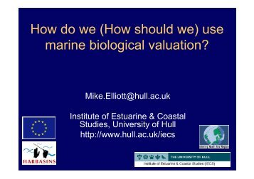 How do we (How should we) use marine biological valuation?