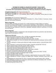 informativo sobre el seguro de incendio y vinculados - Bci