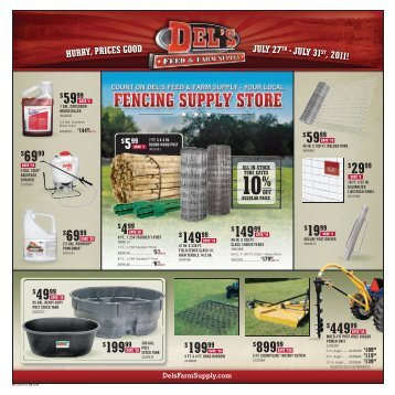 10% - Del's - Feed And Farm Supply