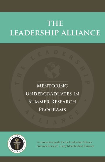 Mentor Guide - The Leadership Alliance