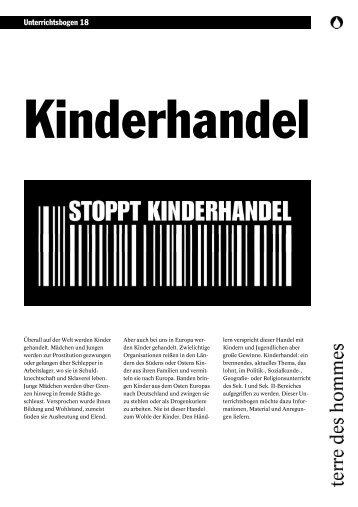 Kinderhandel - Terre des Hommes