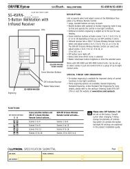 SG-4SIRN-___-___ 5-Button Wallstation with Infrared ... - Lutron