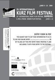 20. internationales kurz film festival 20th ... - Infomedia-SH