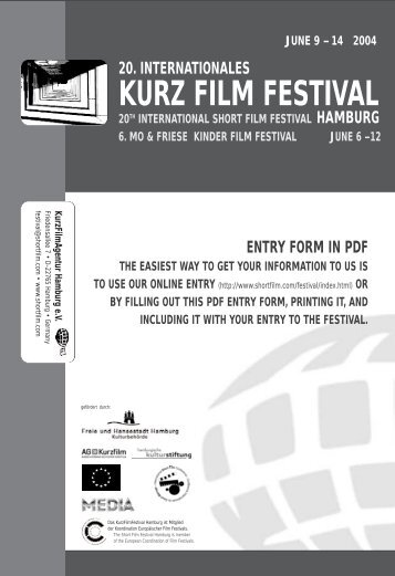 20. internationales kurz film festival 20th ... - Infomedia-SH