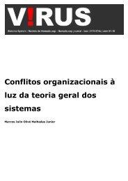 Conflitos organizacionais à luz da teoria geral dos ... - Nomads.usp