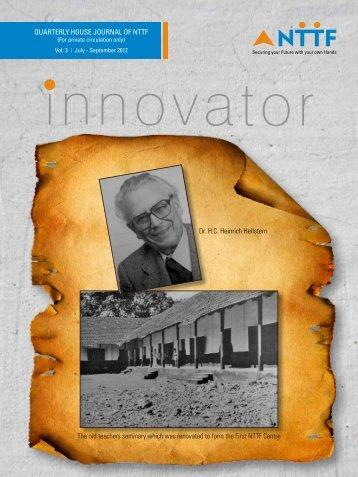 Innovator - Quarterly House Journal (Vol-3 | July-September ... - NTTF