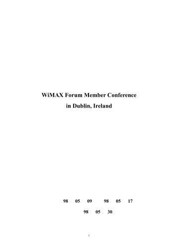 出國報告 - 網路通訊國際標準分析及參與制定計畫網