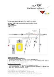 Willkommen zum AIDA Countertraining in Aachen - AIDA Cruises