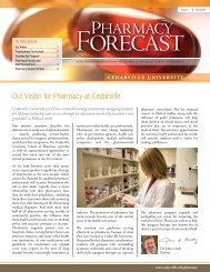 PHARMACY - Cedarville University