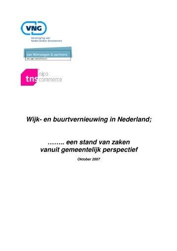 Wijk- en buurtvernieuwing in Nederland - Vereniging van ...