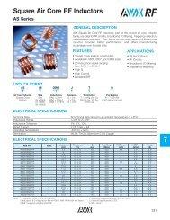 Square Air Core RF Inductors - AVX