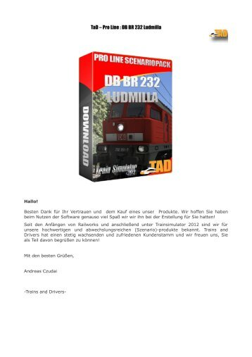 TaD – Pro Line : DB BR 232 Ludmilla - Trains and Drivers