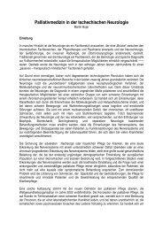 Deutsch - Tschechische Gesellschaft für Palliativmedizin