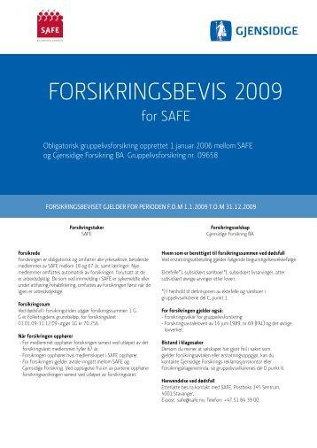 Vilkår - Safe